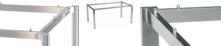 tischgestelle aus edelstahl stern tischsystem gartentische produktart pavilla online shop. Black Bedroom Furniture Sets. Home Design Ideas