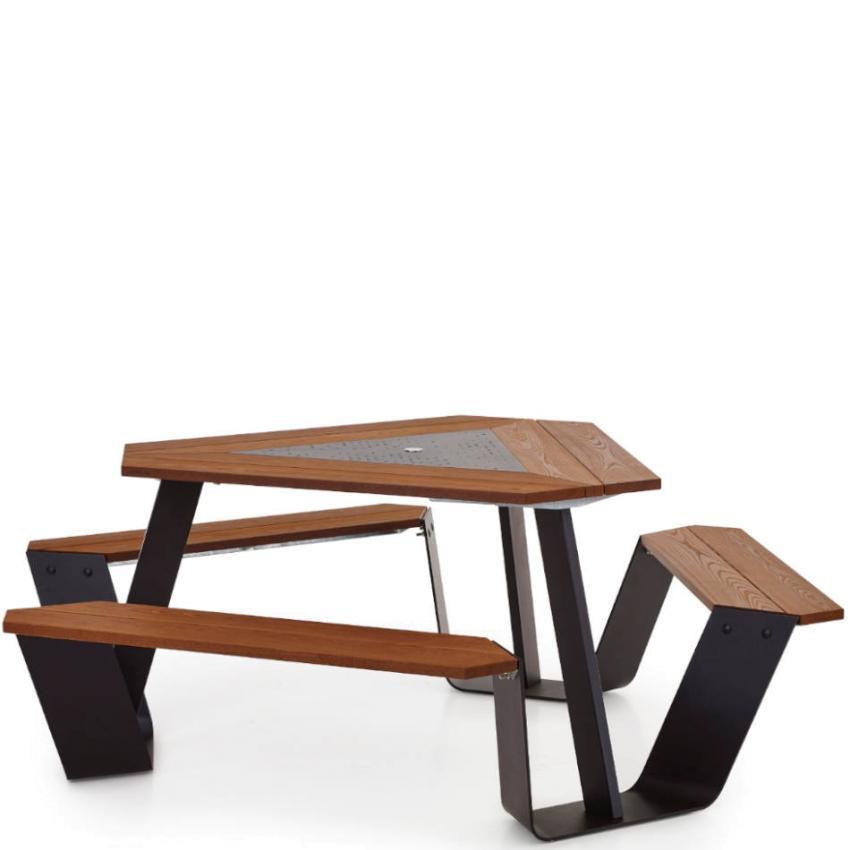 Anker Gartentisch Tisch Bank Kombination Gestell In Schwarz Extremis Pavilla Online Shop