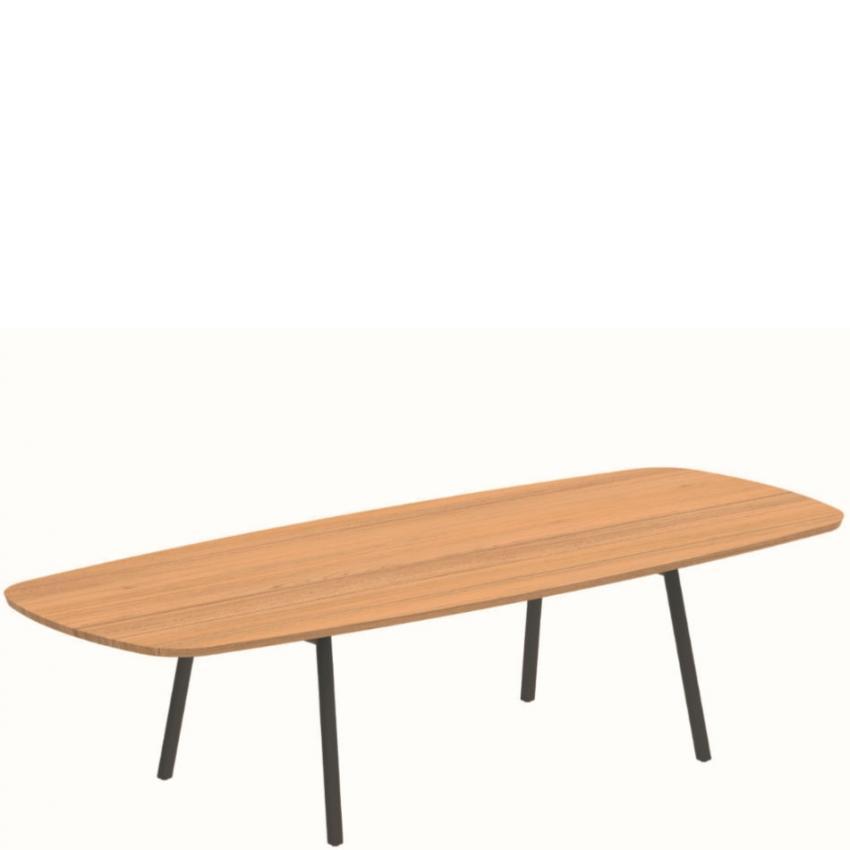 BACE • Gartentisch / Esstisch • Oval 120×300cm • Aluminiumgestell • Teakplatte • ROYAL BOTANIA BACE • Gartentisch / Esstisch • Oval • Aluminiumgestell • Keramikplatte • ROYAL BOTANIA 75972