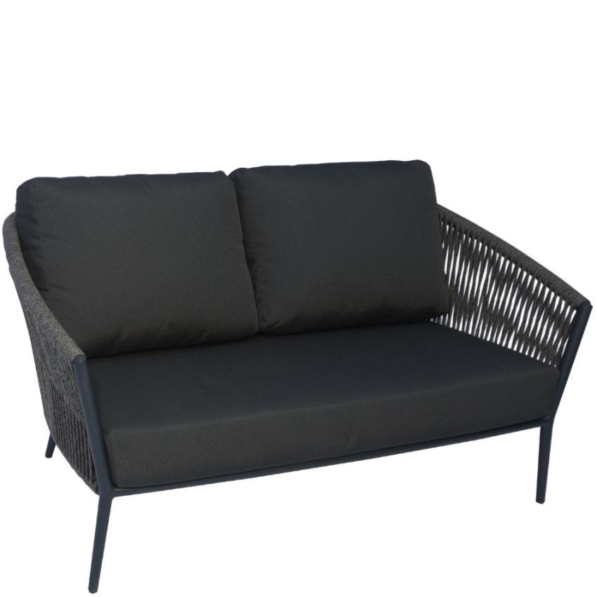 COSMO • Outdoor 2-Sitzer Sofa • inkl.Polster • Anthrazit oder Weiss • Fischer Möbel COSMO • Outdoor 2-Sitzer Sofa • inkl.Polster • Anthrazit • Fischer Möbel 79626