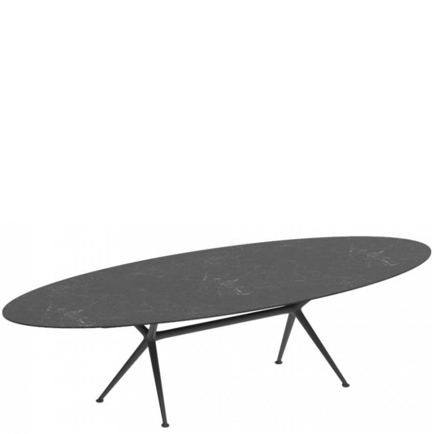 EXES • Gartentisch / Esstisch • Oval 140×320cm • Aluminiumgestell • Keramikplatte • ROYAL BOTANIA EXES • Gartentisch / Esstisch • Oval 140×320cm • Aluminiumgestell • Keramikplatte • ROYAL BOTANIA 66825