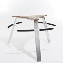 ABACHUS • Stehtisch mit Sitzstangen • Aschenbecher groß • EXTREMIS