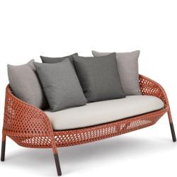 AHNDA • Outdoor 2-Sitzer Sofa • div.Geflechtfarben wählbar • Polster exklusive • DEDON
