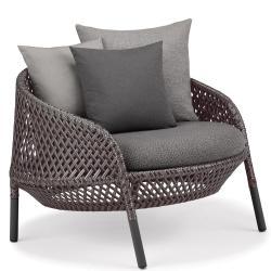 AHNDA • Outdoor Longesessel / Loungechair • div.Geflechtfarben wählbar • Polster exklusive • DEDON
