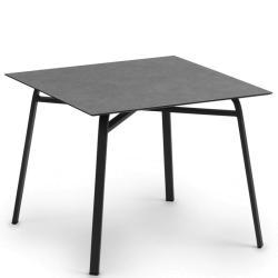 AHOI • Gartentisch / Esstisch • 90×90 • Gestell Grau-Metallic oder Weiss • div.Tischplatten • WEISHÄUPL