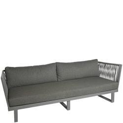 ALTEA • 4-Sitzer Sofa • Aluminium Anthrazit • Seil-Bespannung Dunkelgrau • BOREK