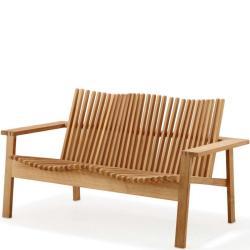 AMAZE • Outdoor 2-Sitzer Sofa • stapelbar • Teakholz • Cane-line