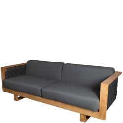 ANGLE • Outdoor 3-Sitzer Sofa • Teakholz & SoftRope • Cane-line