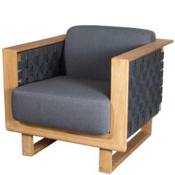 ANGLE • Outdoor Loungesessel / Loungechair • Teakholz & SoftRope • Cane-line