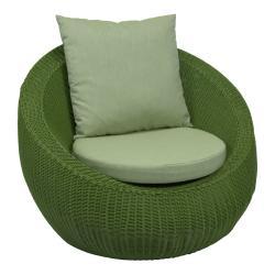 ANNY  • Outdoor Loungesessel / Loungechair • Geflecht • Grün • STERN