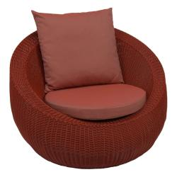 ANNY  • Outdoor Loungesessel / Loungechair • Geflecht • Rot • STERN