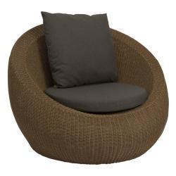 ANNY  • Outdoor Loungesessel / Loungechair • Geflecht • Zimt • STERN