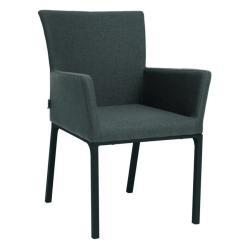 ARTUS • Armlehnstuhl / Sessel • Aluminiumgestell anthrazit • Outdoorstoff dunkelgrau • STERN