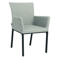 ARTUS • Armlehnstuhl / Sessel • Aluminiumgestell anthrazit • Outdoorstoff hellgrau/seidengrau • STERN