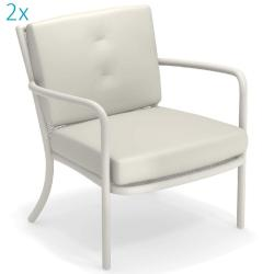 ATHENA • Outdoor Loungesessel / Loungechair • 2er-Set • exkl.Polster • div.Farben • EMU