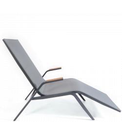 ATLANTIC • Saunaliege / Relaxliege • Anthrazit • Fischer Möbel