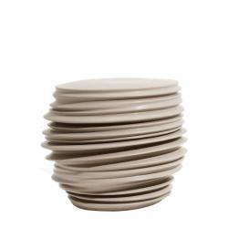 BABYLON • Outdoor Beistelltisch / Hocker • Taupe • Keramik • DEDON