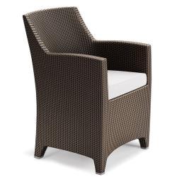 BARCELONA • Gartenstuhl mit Armlehnen / Esssessel • Bronze • Sitzpolster exklusive • DEDON