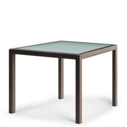 BARCELONA • Gartentisch / Esstisch • 100×100 • Bronze • DEDON