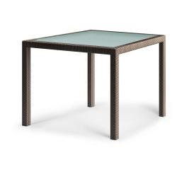 BARCELONA • Gartentisch / Esstisch • 100x100 • Bronze • DEDON