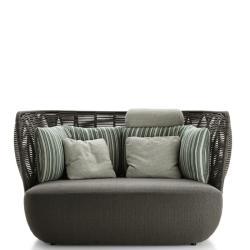 BAY • Outdoor 2-Sitzer Sofa • Anthrazit oder Tortora • B&B Italia