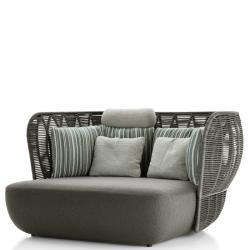 BAY • Outdoor 2-Sitzer Sofa • mit erweiterter Sitztiefe • Anthrazit oder Tortora • B&B Italia