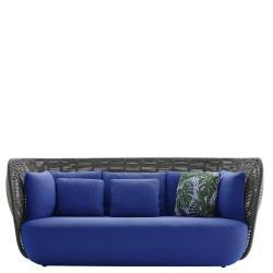 BAY • Outdoor 3-Sitzer Sofa • Anthrazit oder Tortora • B&B Italia