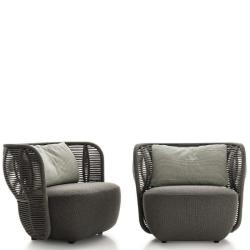 BAY • Outdoor Loungesessel / Loungechair • Anthrazit oder Tortora • B&B Italia