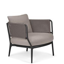 BELLMONDE • Loungesessel / Loungechair • Basalt-Gray • Sitzkissen exklusive • DEDON