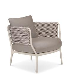 BELLMONDE • Loungesessel / Loungechair • Silver-Gray • Sitzkissen exklusive • DEDON
