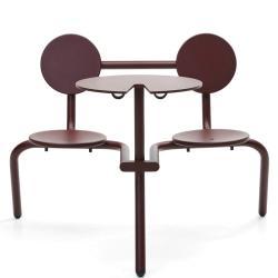 BISTROO • Bistro-Möbel-Garnitur • Schwarzrot • EXTREMIS