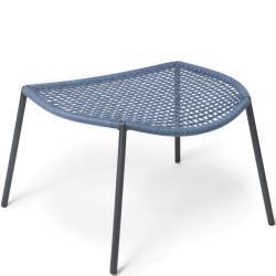 BLOOM • Outdoor Fusshocker / Hocker • Seilgeflecht in Blau • Fischer Möbel