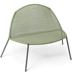 BLOOM • Outdoor Loungesessel • Seilgeflecht in Grün • Fischer Möbel