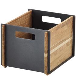 BOX • Aufbewahrungskasten • Teak / Aluminium Lavagrau • Cane-line