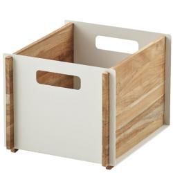 BOX • Aufbewahrungskasten • Teak / Aluminium Weiss • Cane-line