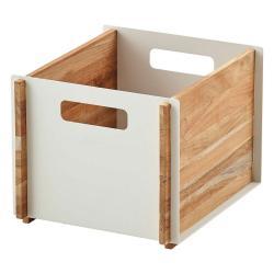 BOX • Aufbewahrungskasten • Teak / Aluminium Weiß • cane-line