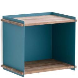 BOX WALL • Aufbewahrungskasten • inkl.Wandhalterung • Teak / Aluminium Aqua • Cane-line