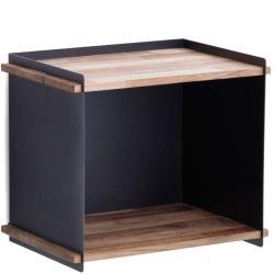 BOX WALL • Aufbewahrungskasten • inkl.Wandhalterung • Teak / Aluminium Lavagrau • Cane-line