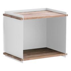 BOX WALL • Aufbewahrungskasten • inkl.Wandhalterung • Teak / Aluminium Weiß • cane-line