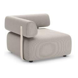 BRIXX • Loungemodul ECK-Element • LINKS mit Rückenlehne • 98x98 • div.Farben • Dedon
