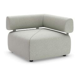BRIXX • Loungemodul ECK-Element • RECHTS mit Rückenlehne • 98x98 • div.Farben • Dedon