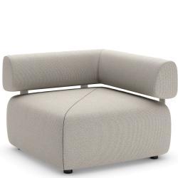 BRIXX • Outdoor Loungemodul ECK-Element • LINKS • mit Rückenlehne • 98×98 • div.Farben • DEDON