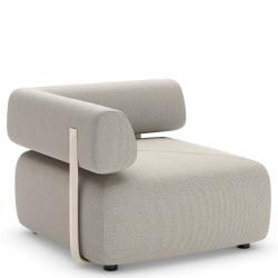 BRIXX • Outdoor Loungemodul ECK-Element • RECHTS • mit Rückenlehne • 98×98 • div.Farben • DEDON