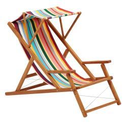 CABIN • Deckchair / Liegestuhl DELUXE • Bespannung aus BATYLINE oder Acryltuch • div.Farben • WEISHÄUPL