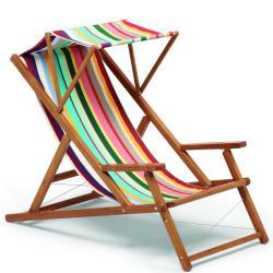 CABIN • Deckchair / Liegestuhl DELUXE • Bespannung aus Batyline® oder Acryltuch • div.Farben • WEISHÄUPL