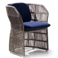 CANASTA 13 • Gartenstuhl mit Armlehnen •Inkl. Sitzpolster • B&B Italia