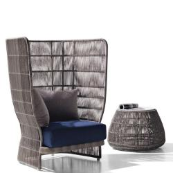 CANASTA '13 • Outdoor Loungesessel / Loungechair • mit hoher Armlehne • B&B Italia