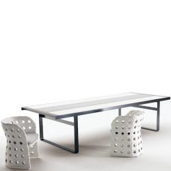 CANASTA • Gartentisch / Esstisch • 121×283cm • div.Gestellfarben • B&B Italia