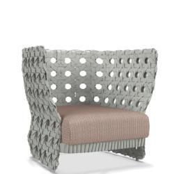 CANASTA • Loungesessel / Loungechair •Inkl. Sitzpolster • mit niedriger Rückenlehne • B&B Italia