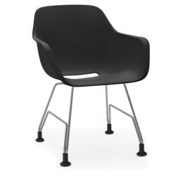 CAPTAIN´S CHAIR • Armlehnstuhl • Sitzschale Schwarz • Gestell Edelstahl • EXTREMIS